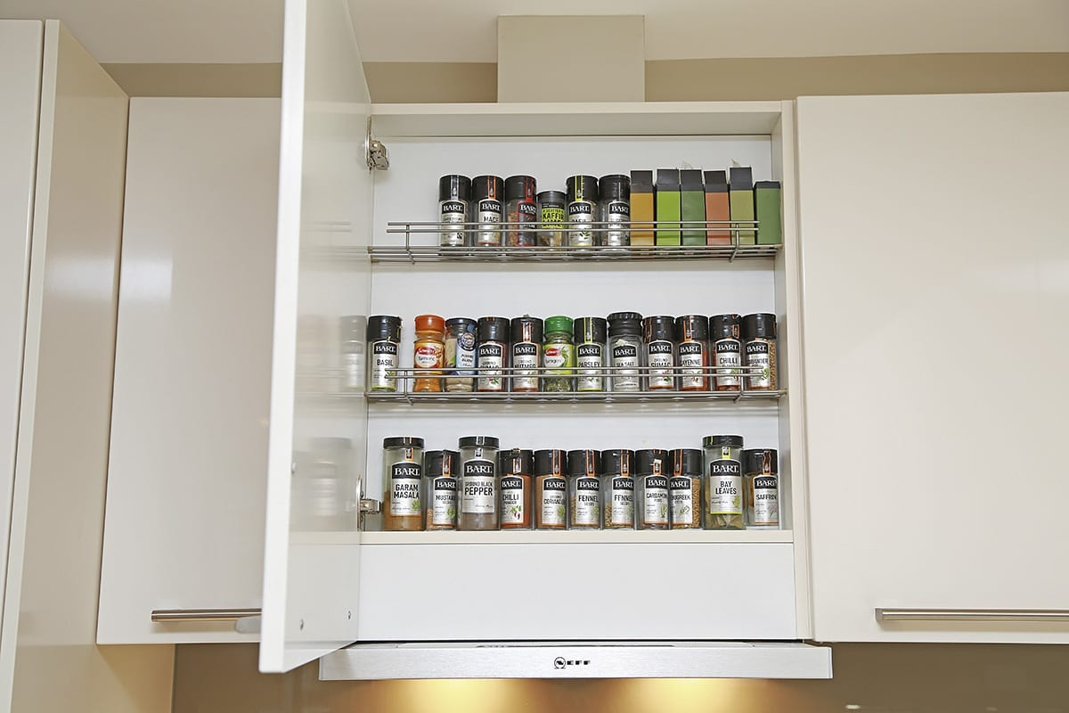 Telescopic extractor with integrated spice shelf - Hanson Electrical Kitchens, Hull