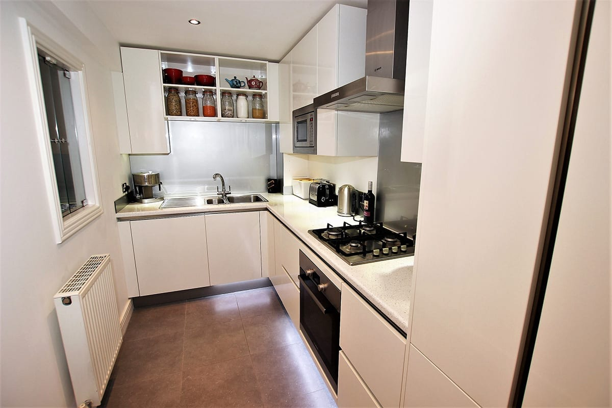 2. Small white kitchen layout Copy - Hanson Electrical Kitchens, Hull