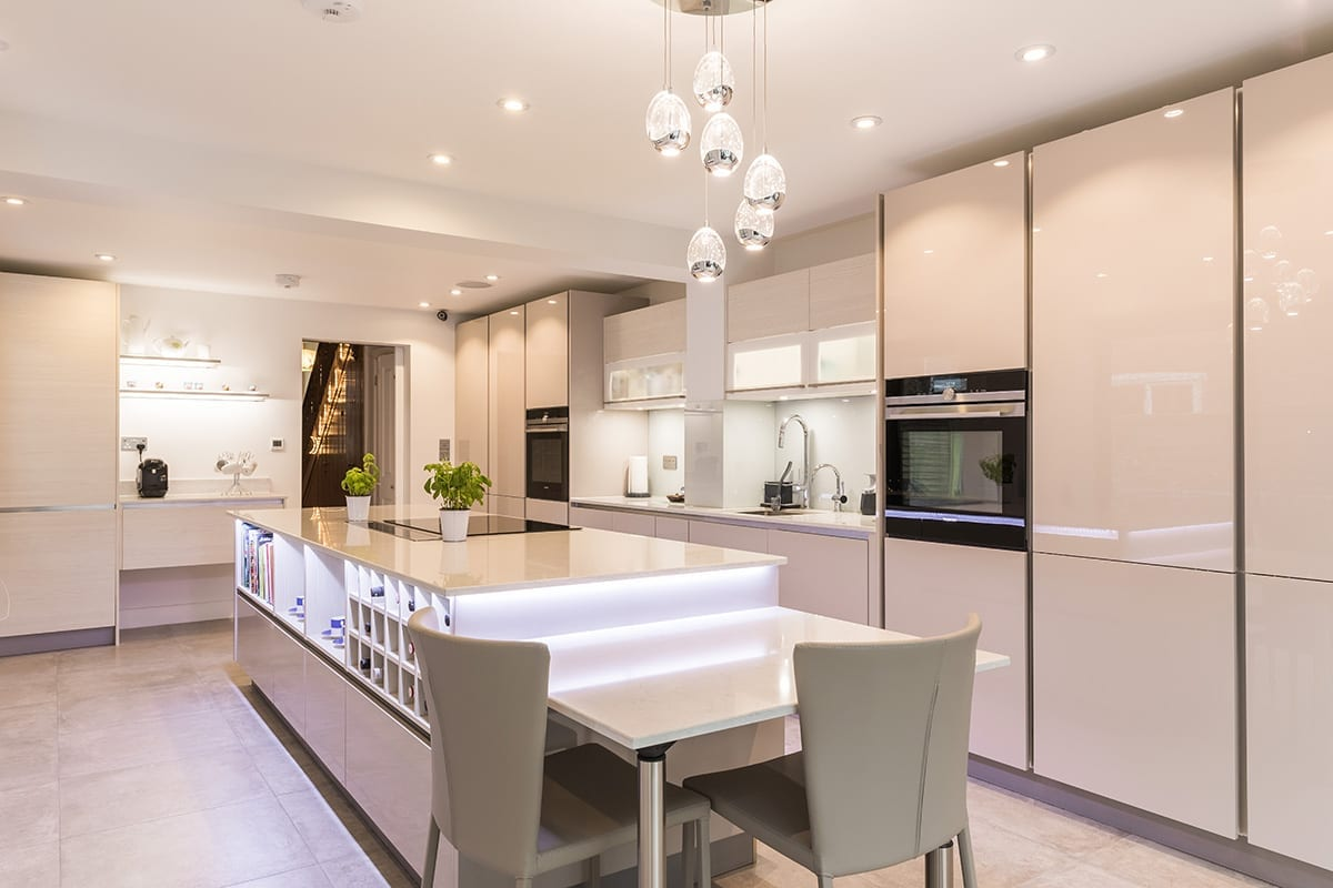 2. Cashmere gloss lacquer kitchen finish - Hanson Electrical Kitchens, Hull