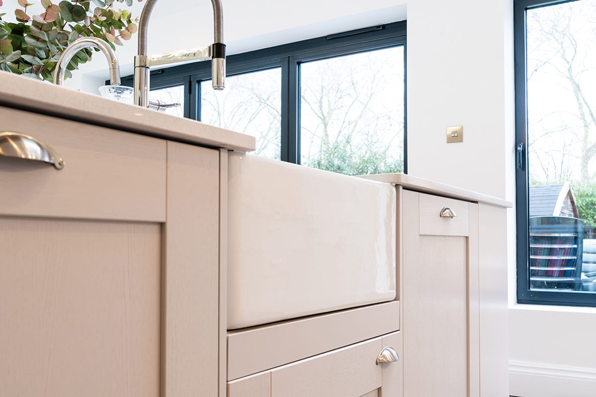 Shaker kitchen with Butler sink - Hanson Electrical Kitchens, Hull