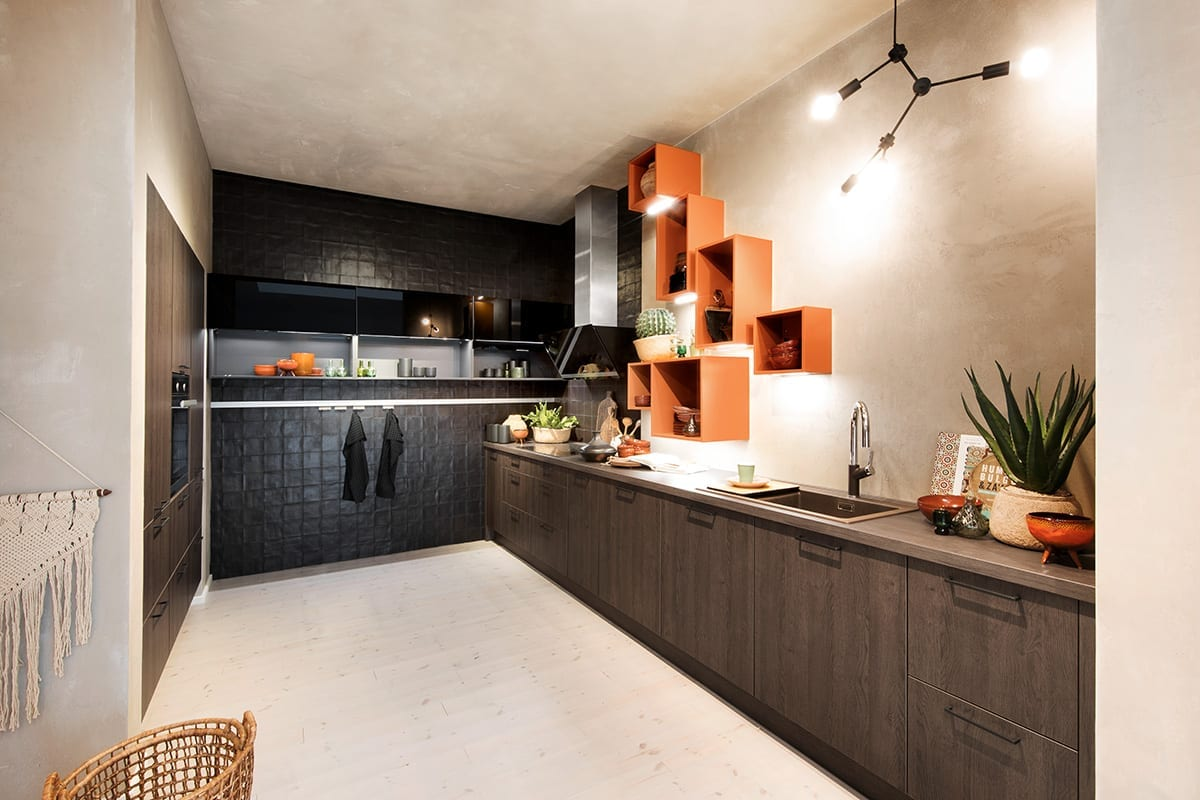 Tangerine Colour Pops - Hanson Electrical Kitchens, Hull