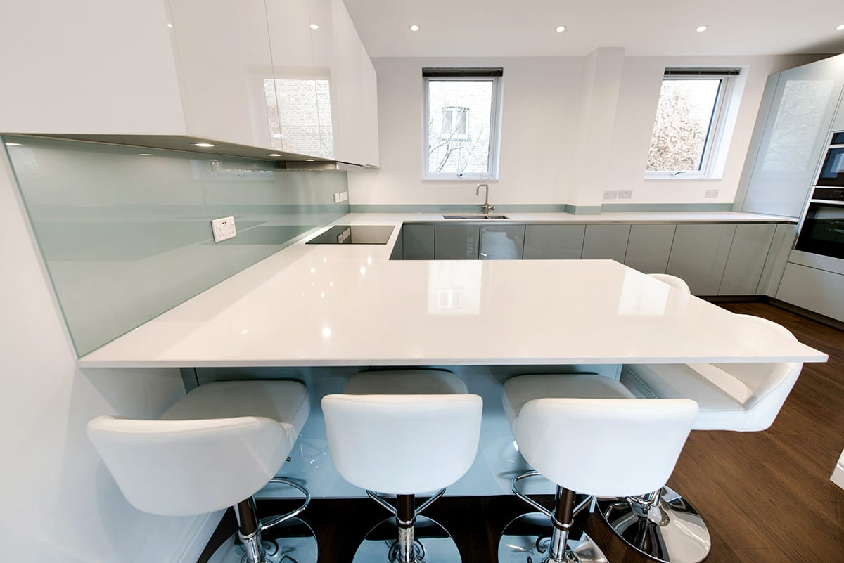 White Quartz Worktop 2 - Hanson Electrical Kitchens, Hull